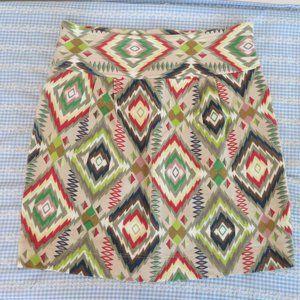 Free People South Western Design Mini Skirt